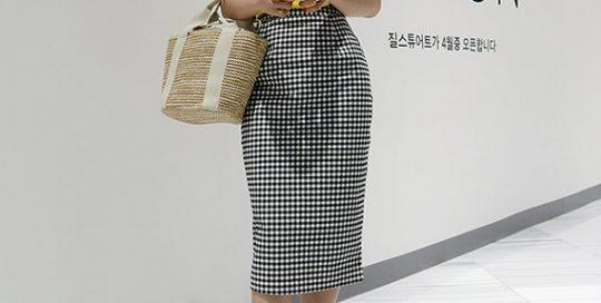 Johansson check skirt
